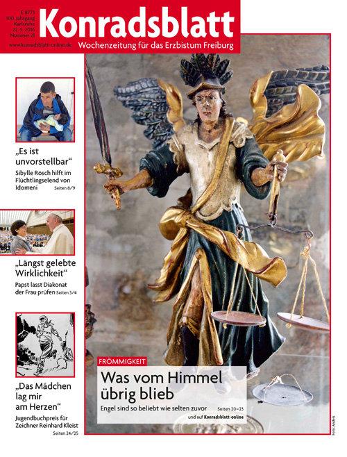 """Das Konradsblatt, die Wochenzeitung für das Erzbistum Freiburg, ist so freundlich, mein Büchlein """"Als Brunhilde, Barbara und ich das Ewige Licht auspusteten"""" ab der Ausgabe 20 vom 15. Mai 2016 als eine Art """"Fortsetzungsroman"""" in 4 bis 5 Ausgaben vorzustellen. An Pfingsten beginnt die Reihe mit der Geschichte """"Als ich bei der Predigt an Gabis Blinddarm dachte und wie ein Sack umfiel"""". - Brigitte Stolle 2016"""